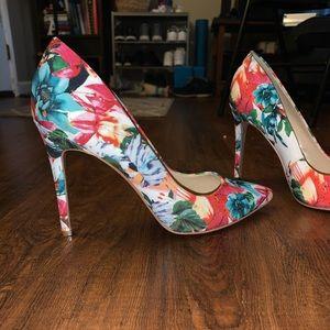 Jessica Simpson Floral Heels